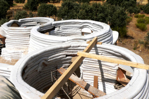 Superadobe domes